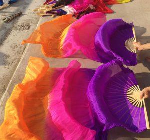 fan veils multicolore
